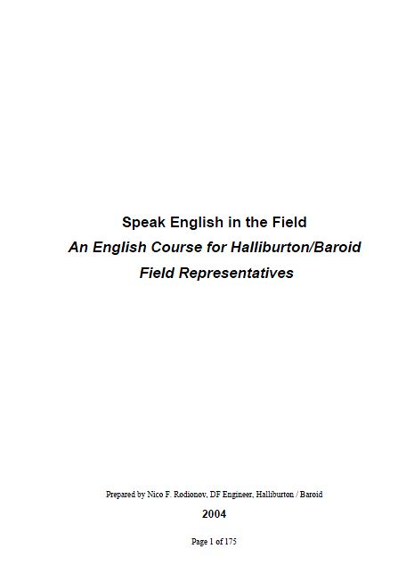 Cover of English in the Field